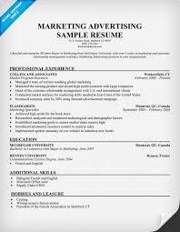 gallery of marketing advertising resume template resume samples