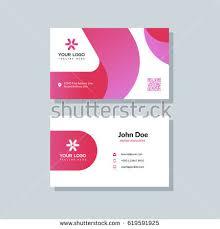Flat Design Business Card Modern Red Business Card Template Flat Stock Vector 619591925