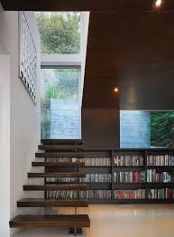 los angeles modern stair treads staircase with library l listed