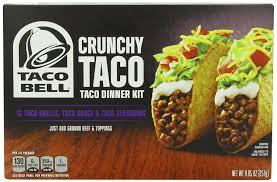 amazon com taco bell taco dinner kit crunchy 8 85 ounce