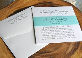 Wedding Itinerary Wedding Itinerary Luster Designs