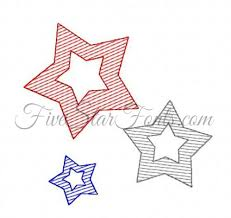trio of stars sketch quick stitch bonus vintage designs