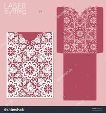 Rom Invitation Card Stock Vector Laser Cut Wedding Invitation Card Template Vector Die