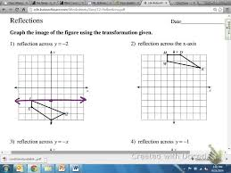 common core math geometric reflection over y u003d 2 youtube