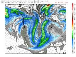 Jet Stream Forecast Map Storm That Grew From Typhoon Lan Churns Bering Sea Alters Jet Stream