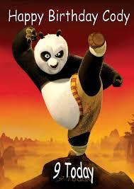 persoanlised kung fu panda birthday card