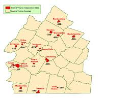 Map Of Virginia Counties And Cities by Wims County Id Maps
