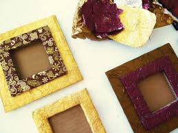 diy picture frame from cardboard and chocolate wrappers 7 steps