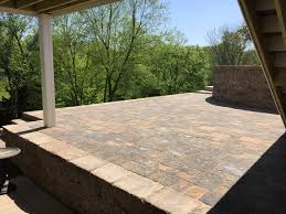 Paver Patio With Retaining Wall by Paver Patios Walkways And Driveways Lance U0027s Landscaping