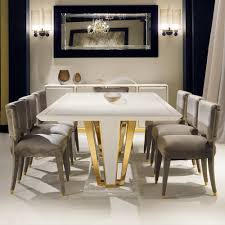 Gold Dining Room by Contemporary Gold Plated Ivory Dining Table Set