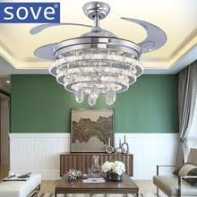 Fan With Chandelier Light Compare Prices On Ceiling Fan Crystal Chandelier Online Shopping