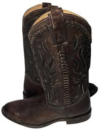 s boots size 9 frye brown 76595 wyatt overlay leather s boots