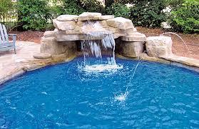 rock waterfalls for pools rock waterfalls blue haven custom swimming pool and spa builders