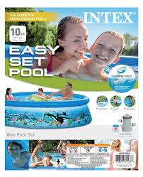 Intex Swimming Pool Pumps And Filters Intex 10 X 30 Ocean Reef Easy Set Above Ground Swimming Pool