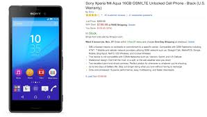 amazon best cell phone deals gsm black friday unlocked deal unlocked 16gb sony xperia m4 aqua only 200 from amazon