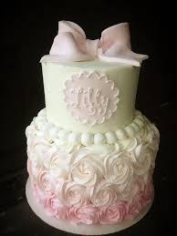baby shower cake for girl baby shower cake ya ll how much i to do my rosette cakes