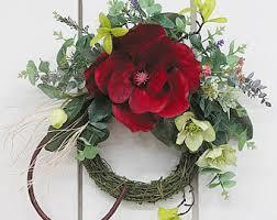 magnolia wreath etsy