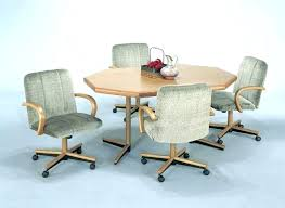 kitchen table with swivel chairs dining table and chairs with casters dining table and chairs with