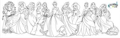 disney princesses coloring pageskids coloring pages