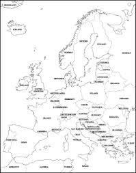 blank europe map with country names free vector european maps