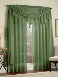 Green Sheer Curtains Reverie Snow Voile Panels Green Lorraine Casual Curtains