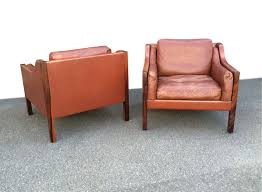 Danish Leather Armchair Pair Of Danish Leather Armchairs By Erik Jorgensen Seating