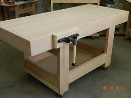 Simple Wood Bench Instructions by Design Of The Workbench Top With Mitered Skirt Rails Built From