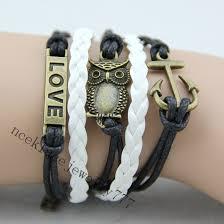 love bead bracelet images Anchor bracelet love bracelet owl wing bracelet gold bead jpg