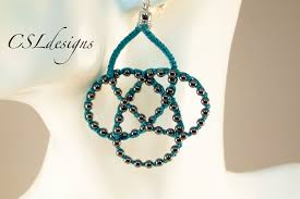 beads knots necklace images Beaded celtic knot micro macrame necklace earrings jpg