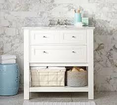 Bathroom Vanities  Sink Consoles Pottery Barn - White single sink bathroom vanity