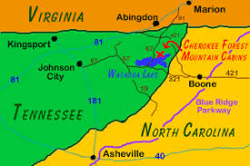 map of virginia and carolina with cities forest mountain cabins butler tn maps directions