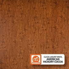 luxury click vinyl plank hickory cocoa lvpclamchico