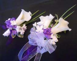 Prom Corsages And Boutonnieres Lilac Corsage Etsy