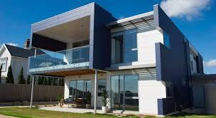 textured front facade modern box home case studies scyon wall cladding