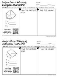 prisms pyramids cylinders u0026 cones surface area worksheets math