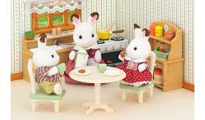 Sylvanian Families Country Kitchen Set Kids George At ASDA - Sylvanian families luxury living room set