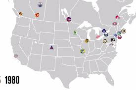 Mls Teams Map 97 Years Of Nhl Expansion In One Simple Map Sbnation Com