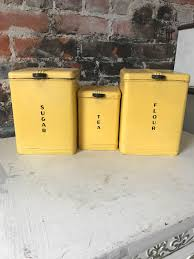 vintage art deco yellow kitchen canister set details this wonderful yellow kitchen canister set