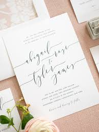 wedding invitations simple clean simple wedding invitations from shine