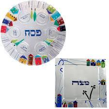 seder matzah glass seder plate matzah plate set in jerusalem houses design