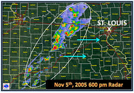 Weather Map Chicago by Nov 6th 2005 Evansville Area Tornado