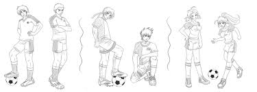 football sketches commission by bastet sama on deviantart