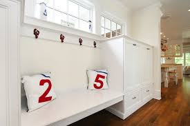 Built In Bench Mudroom Floating Mudroom Bench Country Laundry Room
