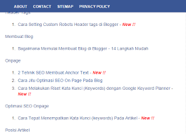 Sitemap Blog Cara Membuat Pages Sitemap Di Blog