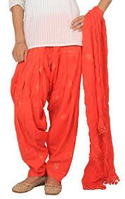 rama orange color golden print full patiala and dupatta set at