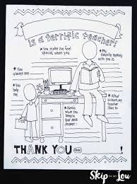 my teacher coloring page teacher appreciation gift