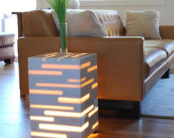 Contemporary End Tables Minimalist End Table Etsy