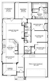 House With 2 Master Bedrooms Lofty Idea Single Story 2 Master Bedroom House Plans 6 With Suites