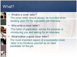 what is the purpose of a good cover letter what is the purpose of