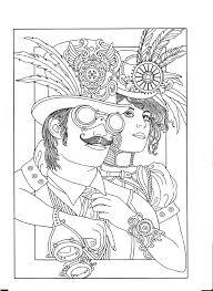 steampunk coloring page steampunk style coloring